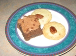 brownie and cookies